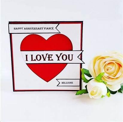 Anniversary Husband Wife Happy Fiance Cards Valentine