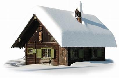 Snow Transparent Winter Clipart Maison Neige Hut