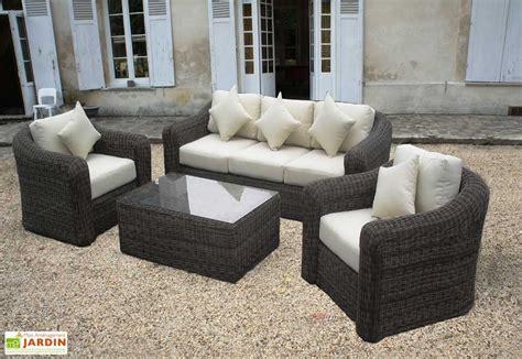 Salon de Jardin Ru00e9sine Tressu00e9e Ronde Riviera Set 4 piu00e8ces - Salon de Jardin Ru00e9sine Tressu00e9e ...