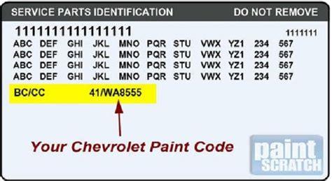 locating your vehicle s paint code racingjunk news
