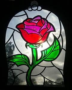 Rose In Glas : disney inspired beauty the beast rose imitation stained ~ Frokenaadalensverden.com Haus und Dekorationen