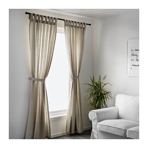 lenda curtains with tie backs 1 pair light beige 140x250