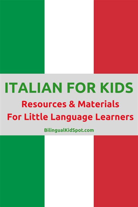 italian for language resources for learners 691 | ITALIAN FOR KIDS 1