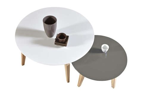 table cuisine ronde blanche table basse gigogne rondo