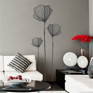 stickers fleurs de coquelicots stickers muraux nature With chambre bébé design avec livraison fleurs valenciennes