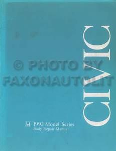 1992 Honda Civic Repair Shop Manual Original