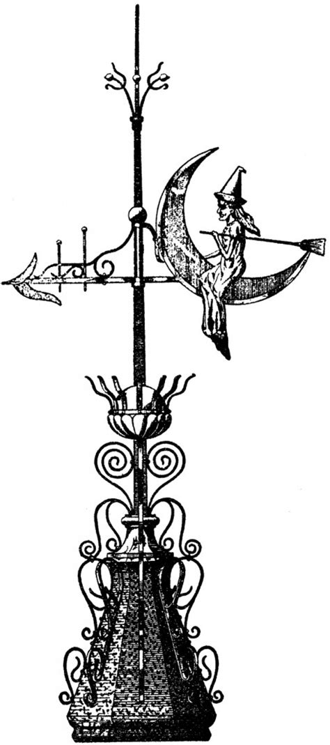 Vintage Witch Weather Vane Image! - The Graphics Fairy