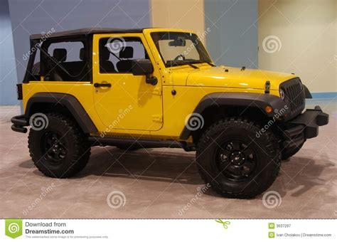 yellow jeep stock image image  wrangler jeep