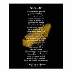 """""""Live Your Life"""" Golden feather by Chief Tecumseh Poster ..."""