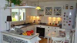 Cuisine Blanche Plan De Travail Bois : cuisine blanche plan de travail bois ~ Preciouscoupons.com Idées de Décoration