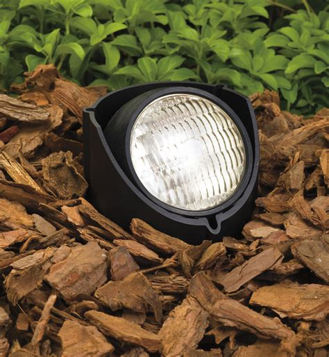 kichler 15488bk landscape black in ground light