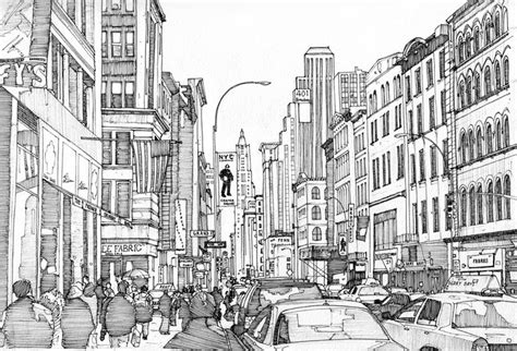 Kleurplaat Nyc by Therapy Coloring Page New York Broadway 9