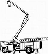 Bucket Truck Tree Clipart Picker Trimming Clip Cherry Construction Decal Coloring Equipment Silhouette Vinyl Pages Heavy Decals Line Crane Boom sketch template