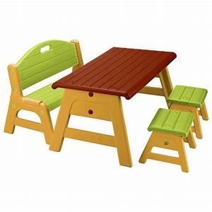 Table De Jardin Pour Enfant : table avec tabourets et banc de feber ~ Dailycaller-alerts.com Idées de Décoration