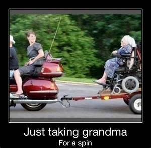 Just taking grandma for a spin