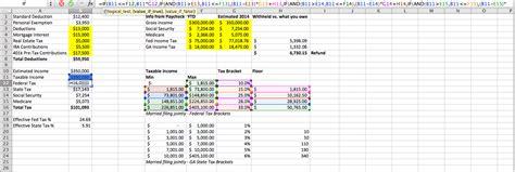 Excel-Formula Income Tax
