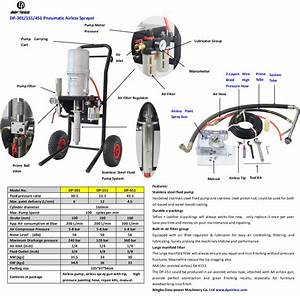 Professional Pneumatic Airless Sprayer  30 1 15 1 45 1