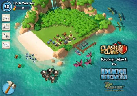 Clash Of Clans Boat Island by Clash Of Clans Attack On Boom Thats My Top 10