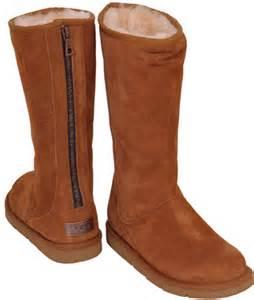 zipper ugg boots sale ugg australia knightsbridge chestnut suede shearling zipper boot at footnotesonline