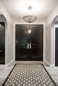 West, Hollywood, Foyer, With, Black, And, White, Custom, Tiled