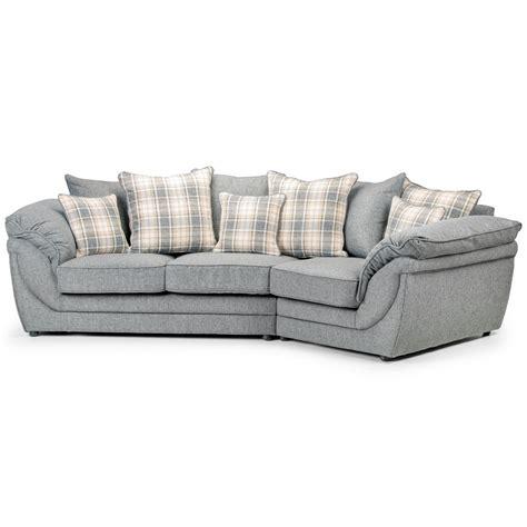 canapé droit tissu canapé angle droit en tissu gris avec coussins chloé dya