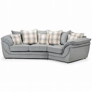 canape angle droit en tissu gris avec coussins chloe dya With tapis exterieur avec prix canape saba