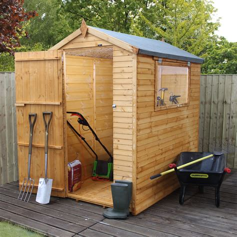 Small Sheds B Q by 6x4 Apex Shiplap Wooden Shed Departments Diy At B Q
