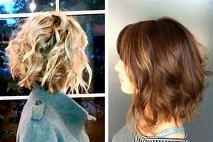 Carré Plongeant Long Bouclé : coupe de cheveux femme carre plongeant boucle ~ Melissatoandfro.com Idées de Décoration