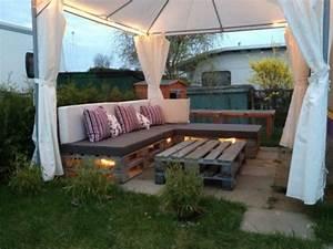 Salon De Détente Extérieur : fabriquez votre salon de jardin gr ce la palette bois ~ Zukunftsfamilie.com Idées de Décoration