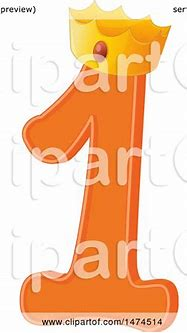 Clipart of a Crowned Number 1 Design - Royalty Free Vector ...