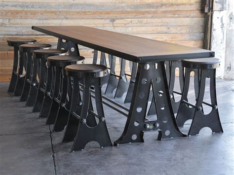 frame conference table vintage industrial furniture