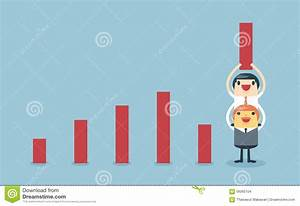 Businessman Lifting Increase Graph With Support From The