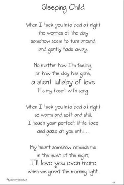 poems about sleeping babies - Google Search | Motivational