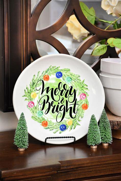 Weihnachtlich Dekorieren Tipps by Diy Decorative Plate Decorating