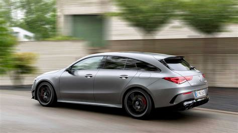 Inside is where the cla 45 amg really struts its stuff. Mercedes-AMG CLA 45 Shooting Brake Debuts Its Shapely Long Roof Lines