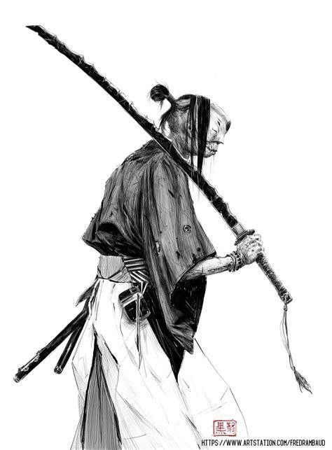 artwork, Simple background, Monochrome, Sword, Japanese