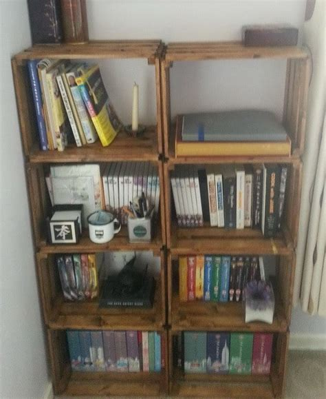 how to make a bookcase how to build a bookcase from a wooden craft crate