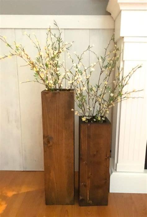 Large Wood Floor Vase by Wooden Vases Reclaimed Wood Rustic Floor Vases Set Of