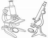 Microscope Coloring Sheet Clipart Teacher Webstockreview sketch template