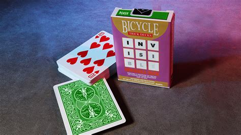 bicycle invisible deck trick invisible deck bicycle green trick tricksupply