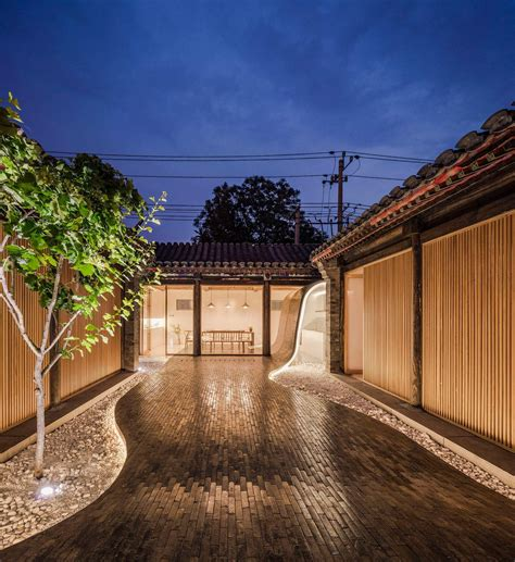 beijing courtyard home  archstudio balances modern  traditional features