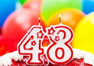 Cake for 48th Birthday Stock Photos - FreeImages com