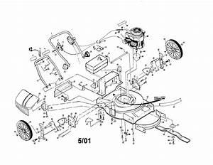 Craftsman Gas Walk Behind Lawnmower 22 U0026quot  Rotary Lawn Mower
