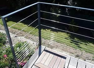 Garde Corps Terrasse Inox : garde corps 5 cables pour terrasse en bois ~ Melissatoandfro.com Idées de Décoration