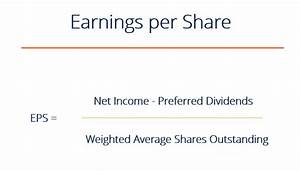 Earnings Per Share Formula - How to Calculate EPS