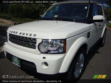 land rover lr4 white interior alaska white 2010 land rover lr4 hse lux ebony