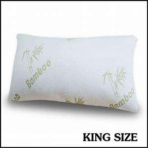 Bamboo pillow cover king size memory foam pillows of for Dreamfinity king size pillow
