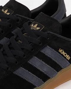Adidas Munchen Trainers Black/Dark Grey,shoes,originals,mens  Black