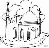 Ausmalbilder Mosque Coloring Mosquee sketch template