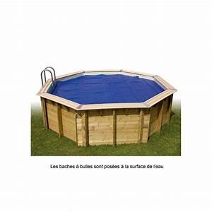 bache a bulles ubbink pour piscine 355x505 cm octogonale With bache pour piscine hors sol octogonale